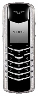 Ремонт телефона Vertu Signature M Design White Gold Pave Diamonds with baguette keys